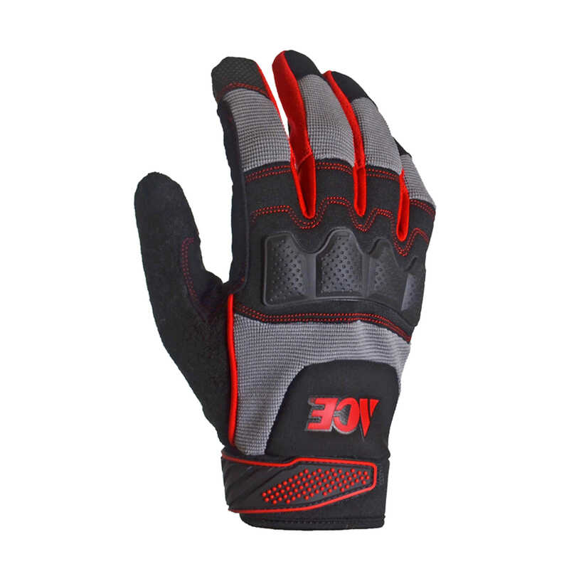 Ace  Men's  Indoor/Outdoor  Synthetic Leather  Heavy Duty  Work Gloves  Black/Gray  M