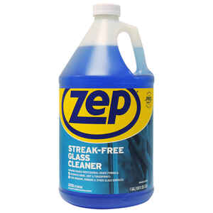 Zep  Commercial  No Scent Glass Cleaner  128 oz. Liquid