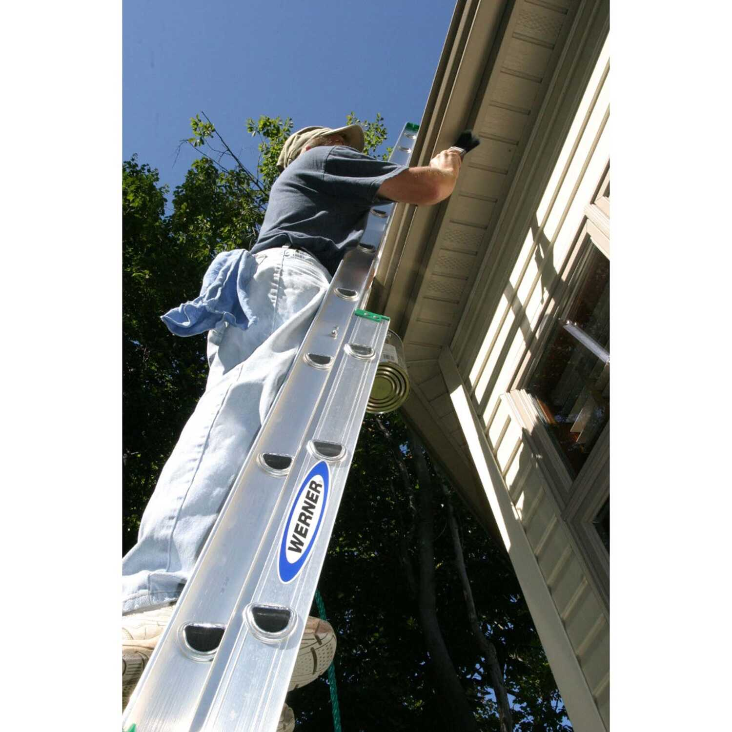Werner  40 ft. H x 17.33 in. W Aluminum  Extension Ladder  Type II  225 lb.