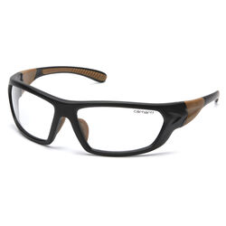 Carhartt  Carbondale  Anti-Fog Safety Glasses  Clear Lens Black/Tan Frame 1 pc.