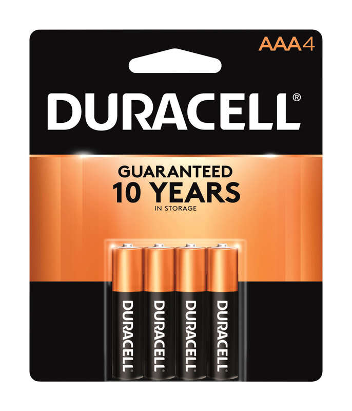 Duracell Coppertop AAA Alkaline Batteries 4 pk Carded