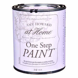 Amy Howard at Home  Flat Chalky Finish  Spa White  32 oz. One Step Paint