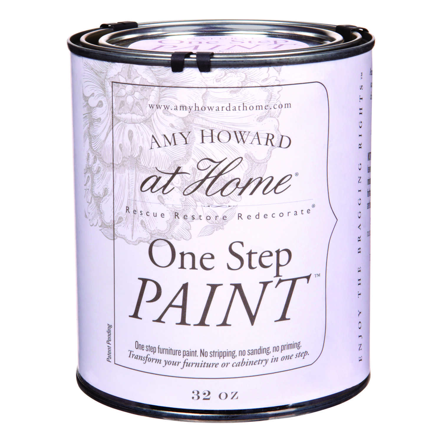 Amy Howard at Home  Flat Chalky Finish  Spa White  One Step Paint  32 oz.