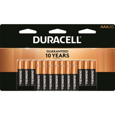 Duracell Coppertop AAA Alkaline Batteries 20 pk Carded