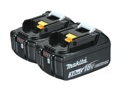 Makita  LXT  18 volt 3 amps Lithium-Ion  Battery Pack  2 pc.