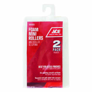 Ace  Foam  4 in. W Mini  Paint Roller Cover  For Smooth Surfaces 2 pk