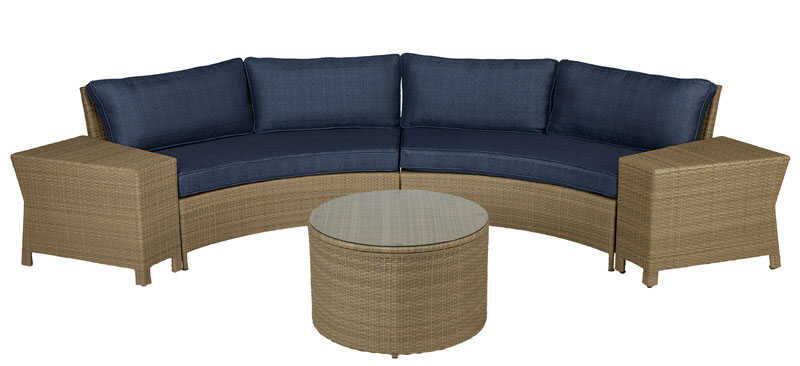 Living Accents  5 pc. Meridia  Patio Set  Navy Blue