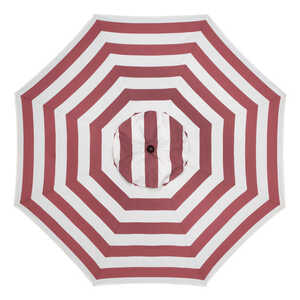 Sunline  Traditional  9 ft. Tiltable Red White Stripe  Market Umbrella
