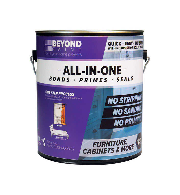 BEYOND PAINT  All-In-One  Matte  Bright White  Water-Based  Acrylic  One Step Paint  1 gal.