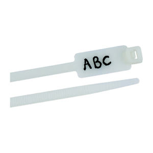 Gardner Bender  8 in. L White  Cable Tie  25 pk