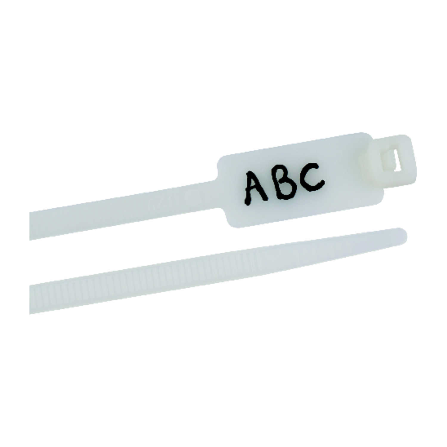 Gardner Bender  8 in. L White  25 pk Cable Tie