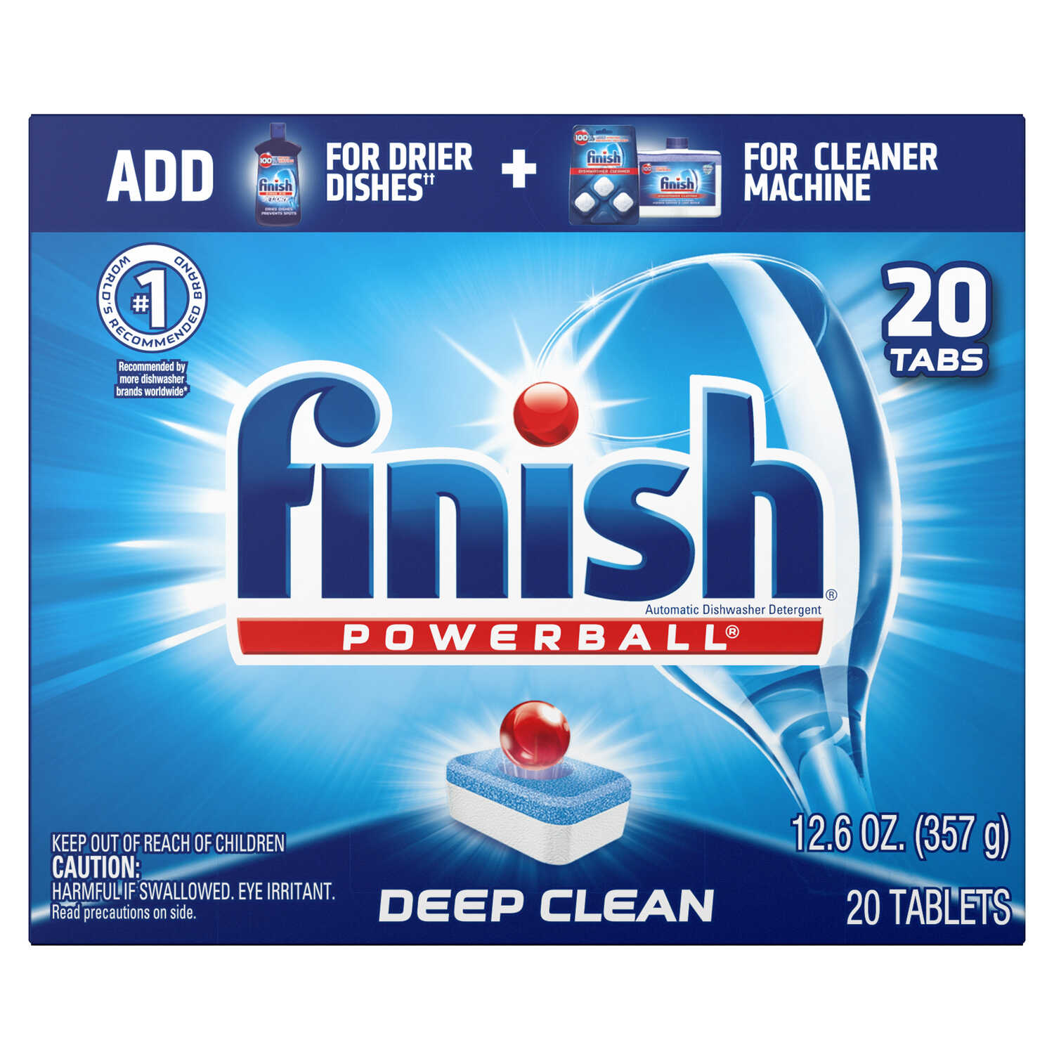 Finish  Powerball Tabs  Fresh Scent Pods  Dishwasher Detergent  13 oz.