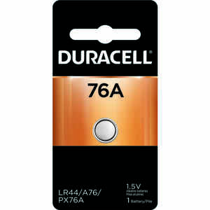 Duracell  Alkaline  76A LR44  1.5 volt Medical Battery  PX76  1 pk