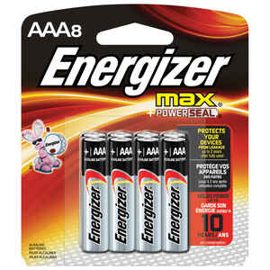 Energizer  MAX  AAA  Alkaline  Batteries  8 pk 1.5 volts Carded