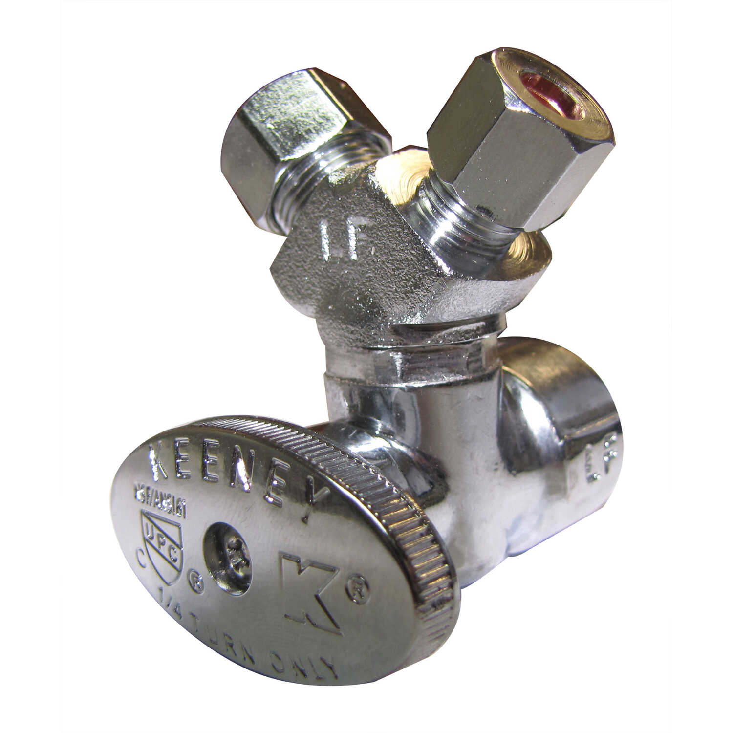 Plumb Pak  1/2 in. Dia. x 3/8 in. Dia. Ball  Brass  3-Way Valve