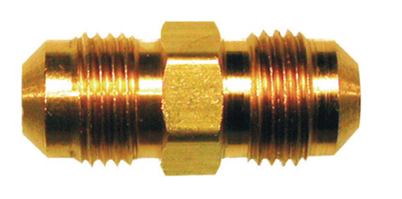 JMF  1/4 in. Dia. x 1/4 in. Dia. Flare To Flare  Brass  Union