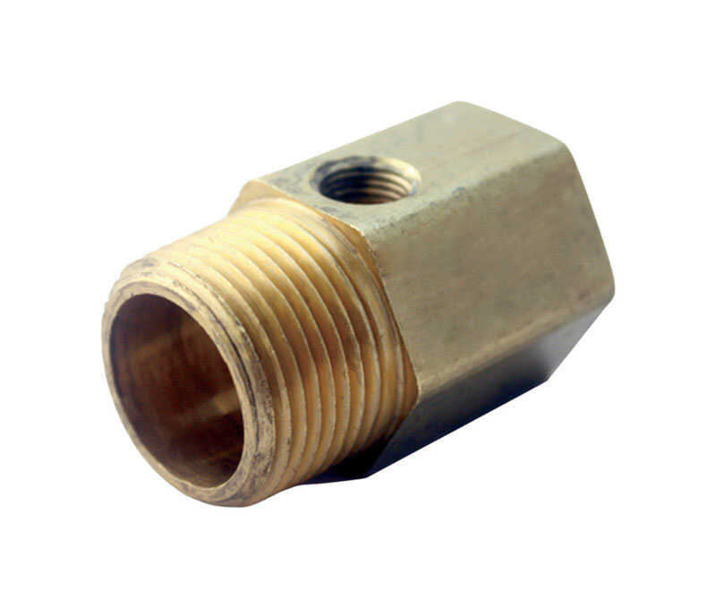 JMF  1/2 in. Female   x 1/2 in. Dia. Brass  Pipe Adapter