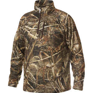 Drake  MST  L  Long Sleeve  Men's  Quarter Zip  Realtree Max-5  Pullover
