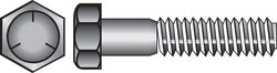 Hillman  3/8 in. Dia. x 2-1/2 in. L Heat Treated Zinc  Steel  Hex Head Cap Screw  50 pk
