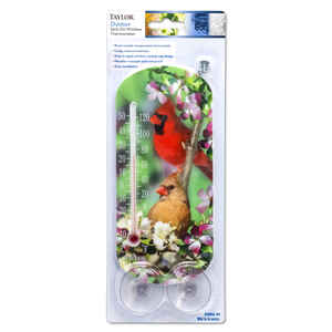 Taylor  Bird Design  Tube Thermometer  Plastic