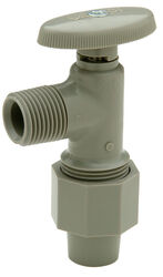 Zurn  Qest  1/2 in. 3/8 in.  Plastic  Shut-Off Valve