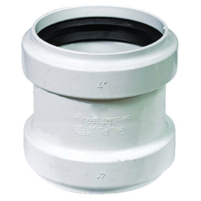 Plastic Trends 4 in. Gasket x 4 in. Dia. Gasket PVC Coupling
