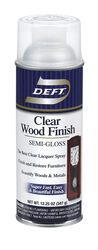 Deft Semi-Gloss Clear Oil-Based Wood Finish Lacquer Spray 12.25 oz.
