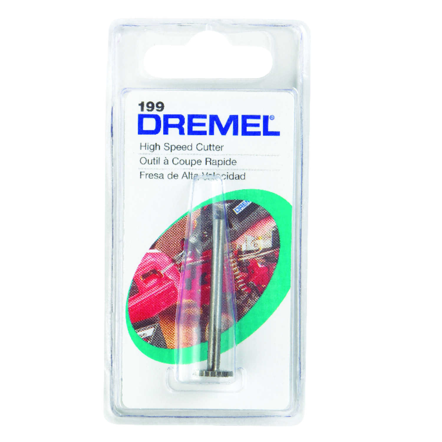 Dremel  3/8 in   x 1.5 in. L x 1/8 in. Dia. High Speed Steel  High Speed Cutter  1 pk