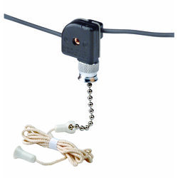 Leviton  Black  Nickel  Pull Chain Switch