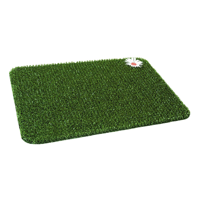 Grassworx Green Polyethylene Nonslip Door Mat 24 In L X