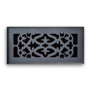 Tru Aire  4 in. H x 12 in. W 1-Way  Matte  Black  Steel  Floor Diffuser