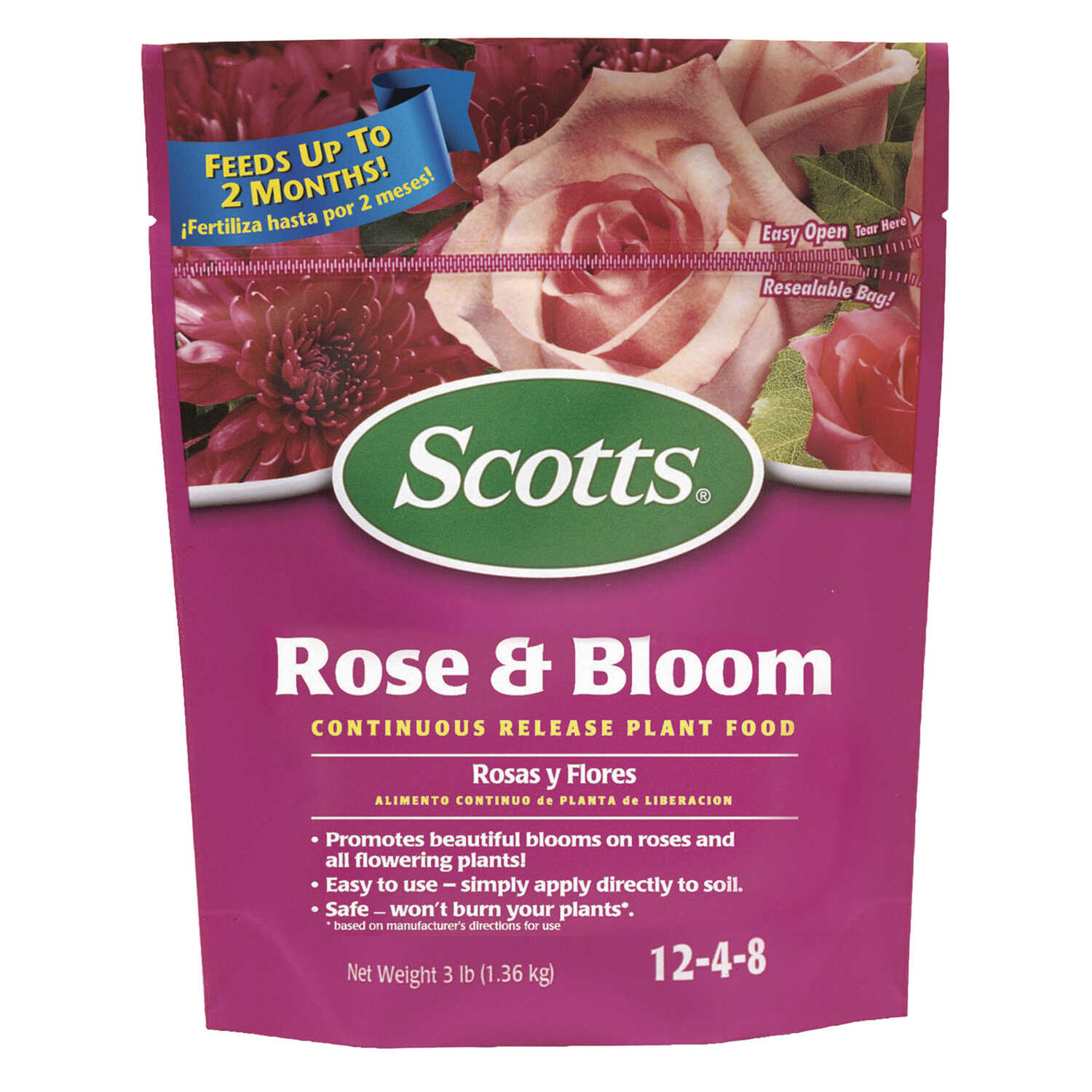 Scotts  Rose & Bloom  Granules  Plant Food  3 lb.