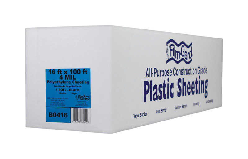 Berry Plastics  Film-Gard  Plastic Sheeting  4 mil  x 16 ft. W x 100 ft. L Polyethylene  Black