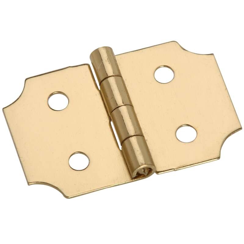 National Hardware 1 in. W x 5/8 in. L Brass Decorative Hinge 2 pk