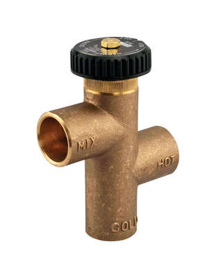 Watts  3/4 in. Sweat   x 3/4 in.  Sweat  Brass  Tempering Valve