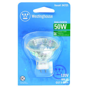 Westinghouse  50 watts MR16  Halogen Bulb  1 pk 330 lumens White  Floodlight