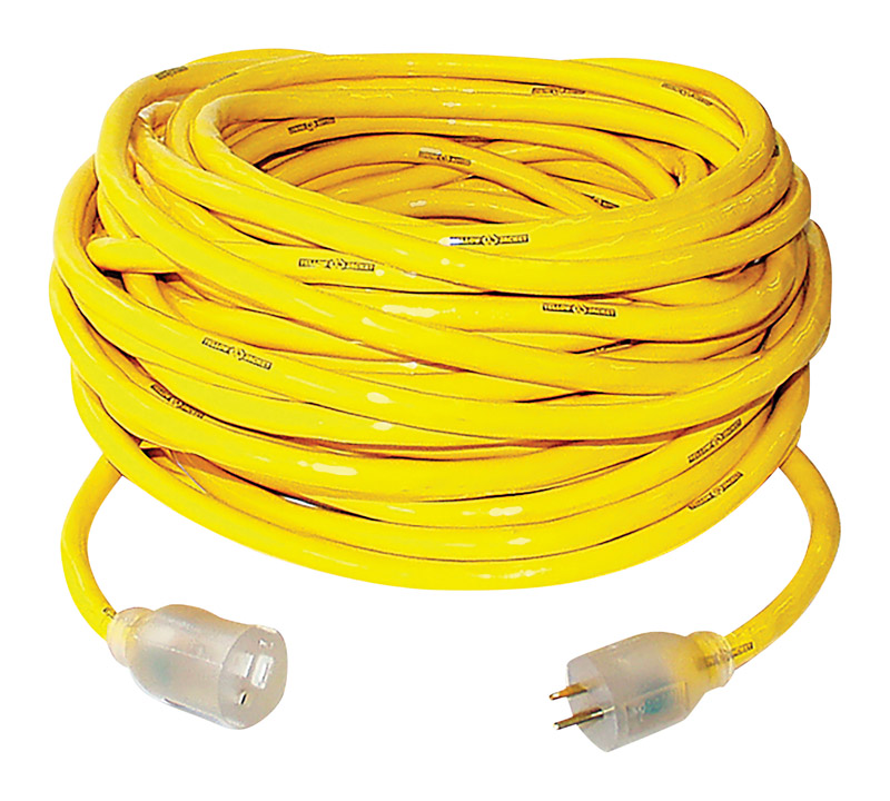 Yellow Jacket  Outdoor  50 ft. L Extension Cord  10/3 SJTW  Yellow