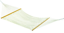 Hammock Source  55 in. W x 82 in. L 2 person  White  Rope Hammock