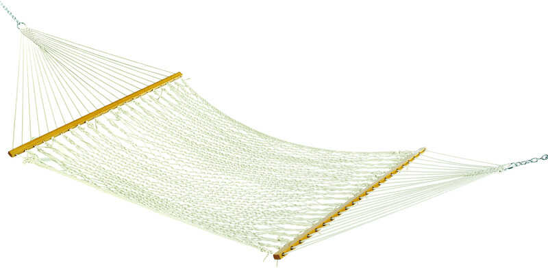 Hammock Source  55 in. W x 82 in. L White  Rope Hammock