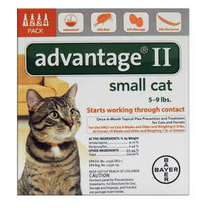 Bayer  Advantage II  Liquid  Cat  Flea Drops  Imidacloprid/Pyriproxyfen  0.056 oz.