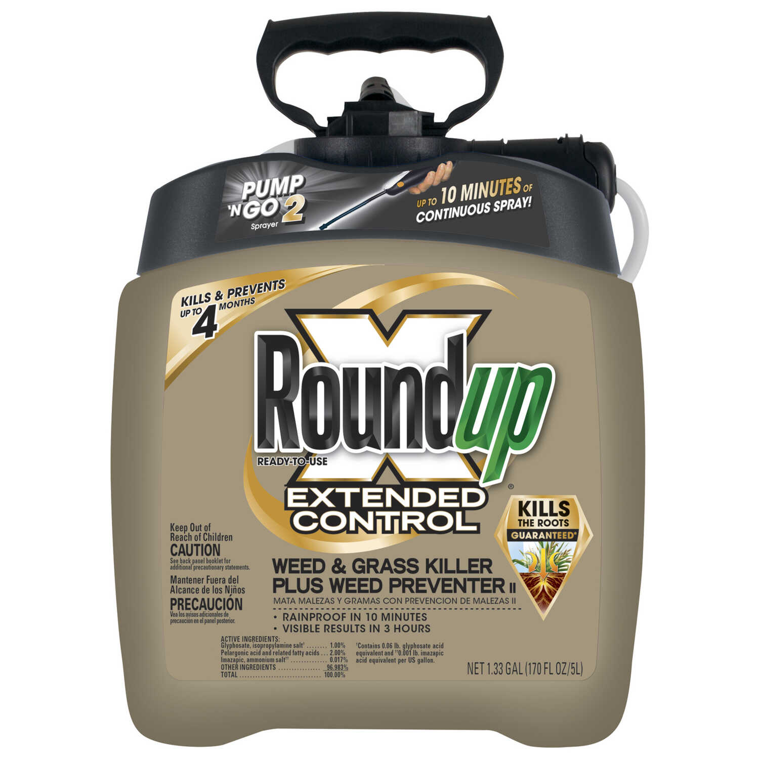 Roundup  Roundup  RTU Liquid  Weed and Grass Killer  1.33 gal.