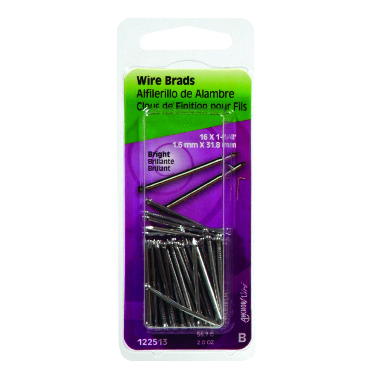 Hillman  16 Ga.  x 1-1/4 in. L Bright  Steel  Brad Nails  1 pk 2 oz.