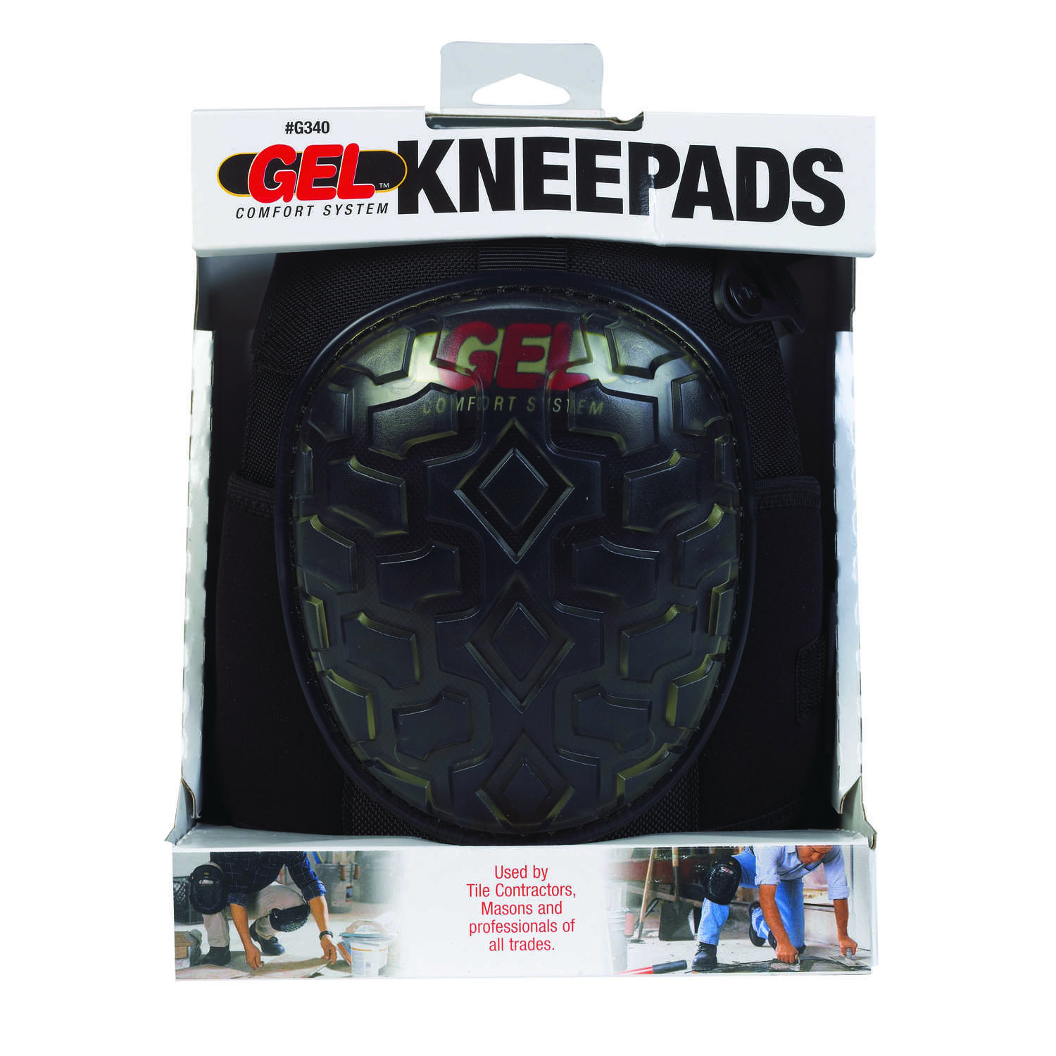 CLC Work Gear  10-7/16 in. L x 8 in. W Gel  Knee Pads  Black