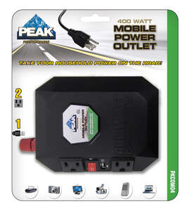 Peak  12 volts 3  Power Inverter  400 watts
