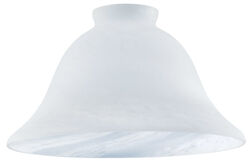 Westinghouse  Wide Bell  White  Glass  Fan/Fixture Shade  1 pk