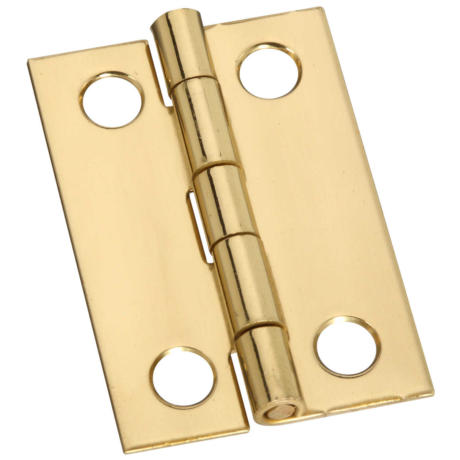 National Hardware  1-1/2 in. L Brass-Plated  Brass  Narrow Hinge  2 pk