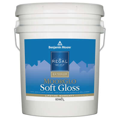 Benjamin Moore  Regal  Soft Gloss  Tintable Base  Base 3  Paint  Exterior  5 gal.