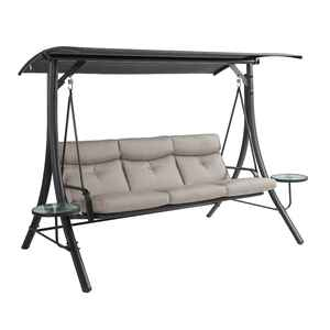 Living Accents  3 person  Steel  Hi-Back Swing