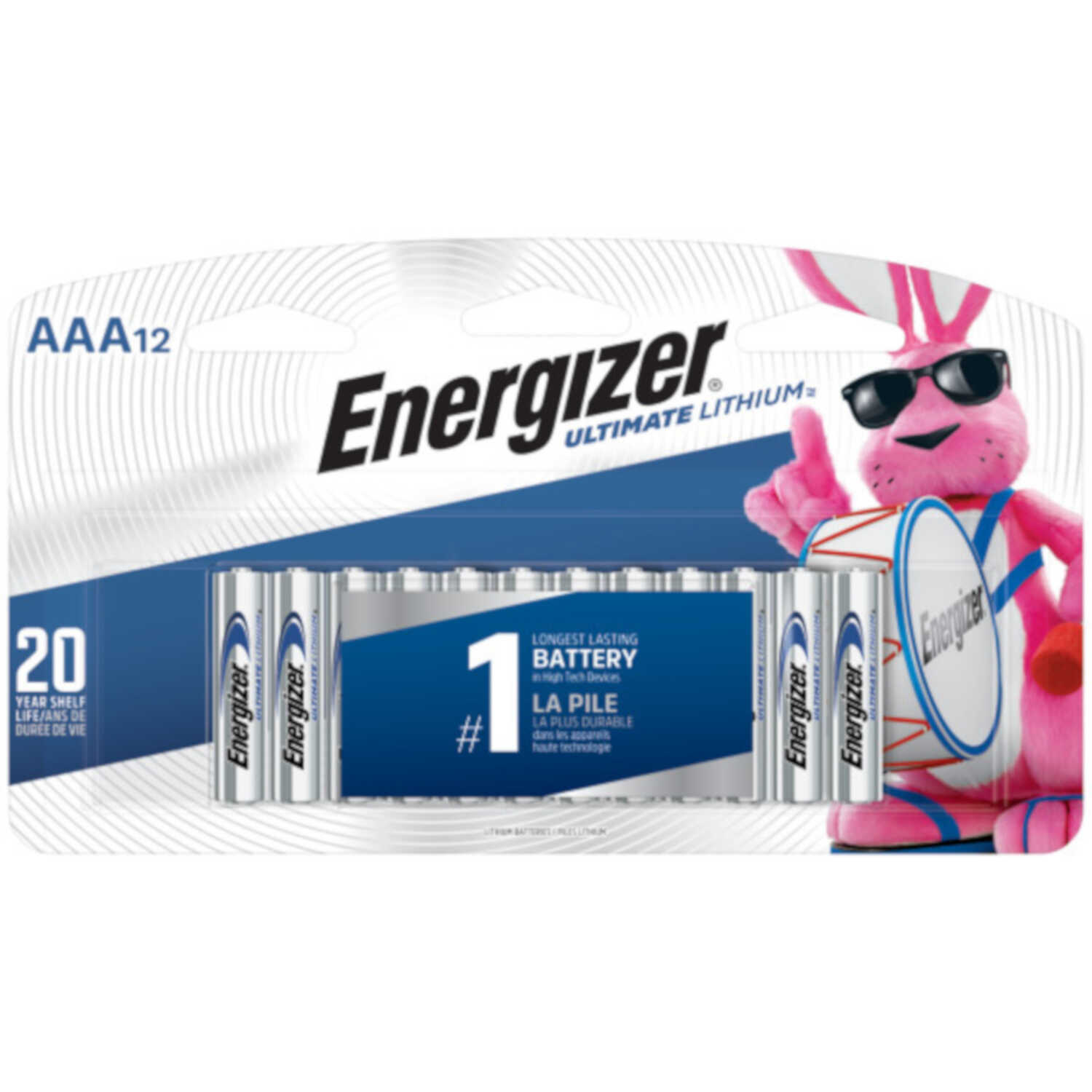 Energizer  Ultimate  Lithium Ion  AAA  1.5 volt Batteries  12 pk