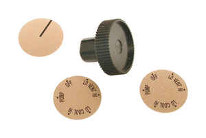 Dial  Plastic  Black  Long Shaft Knob Kit